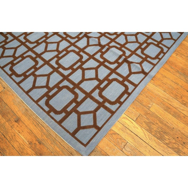 """Modern Needlepoint Wool Rug 9'0"""" X 12'0"""" For Sale In New York - Image 6 of 10"""