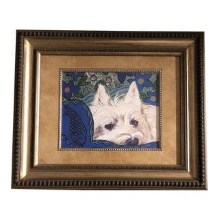 Contemporary Westie Dog Print by Judy Henn Framed For Sale