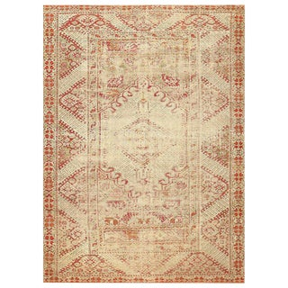 Antique Turkish Shabby Chic Ghiordes Rug - 10′2″ × 14′2″ For Sale
