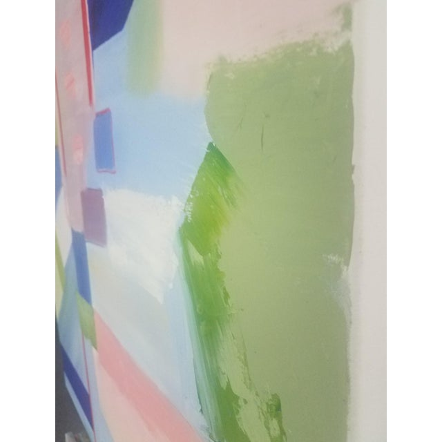 """Abstract Contemporary """"Sloane Square"""" Oil Painting by Christine Frisbee For Sale In New York - Image 6 of 10"""