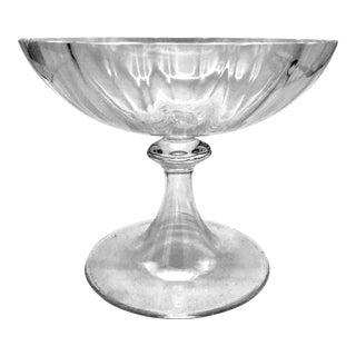 Tiffany & Co. Crystal Large Pedestal Bowl For Sale