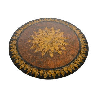 Cado + Mygge Large Brown Lazy Susan Coffee Table For Sale