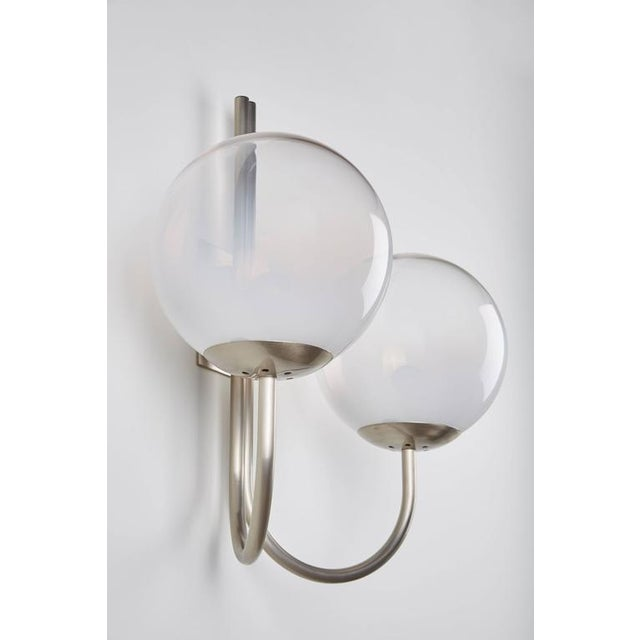 Four Opaline Glass Wall Lights - Image 4 of 9
