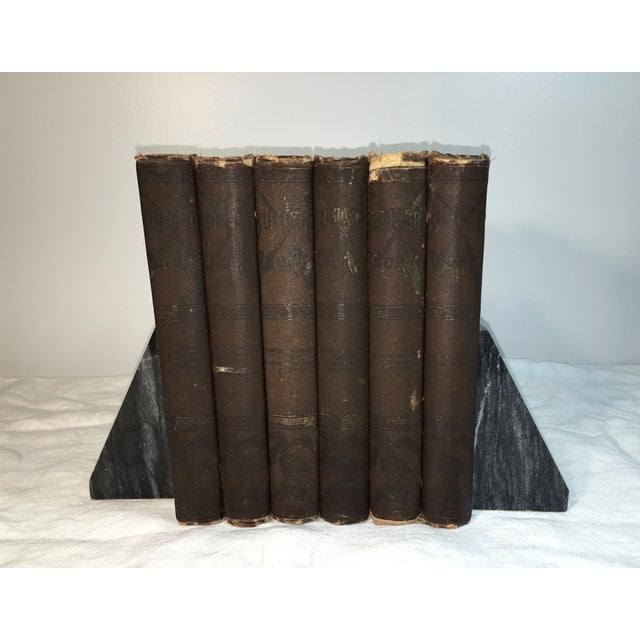 Antique Distressed Victorian Books - Set of 6 - Image 2 of 5