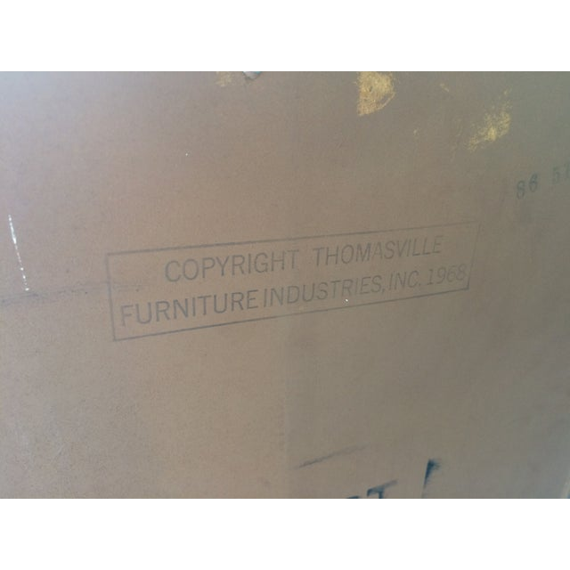 Brown Vintage Herringbone Thomasville Credenza/Dresser For Sale - Image 8 of 11