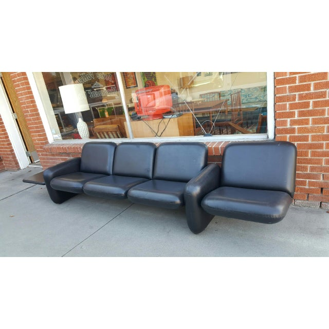 Ray Wilkes for Herman Miller Spaceage Chiclet Sofa in Black Leather - Image 6 of 11