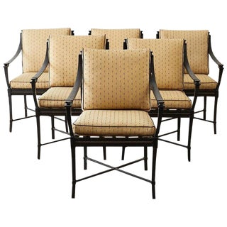 Six Andalusia Royal Lounge Gondola Chairs by Richard Frinier For Sale