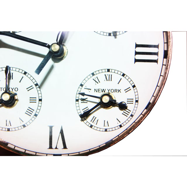 Over Sized Metal Louis XII Desk Clock For Sale - Image 4 of 5
