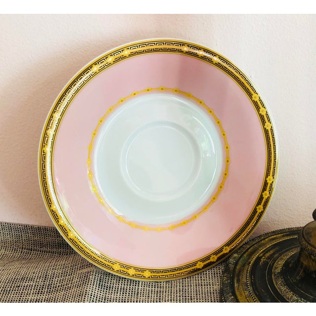 Italian Italian Rosenthal Versace Butterfly Garden Soup Cups and Saucers - 8 Pieces For Sale - Image 3 of 7
