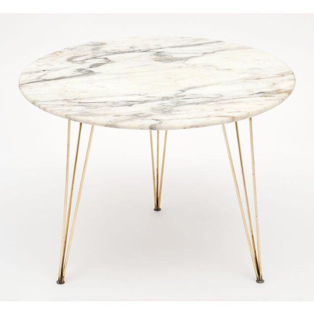 Italian Vintage Mid-Century Italian Marble Top Table For Sale - Image 3 of 10