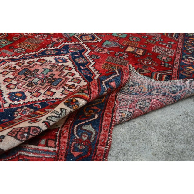 """Extra Large Persian Hand Woven Hamadan Runner - 16' X 4' 8"""" For Sale - Image 10 of 12"""
