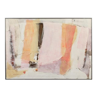 1960s Vintage Composition Painting by Beki Petras + + + + Last Markdown + + + + For Sale