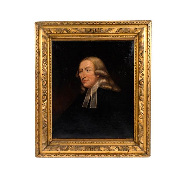 English Georgian Man in Black Portrait For Sale