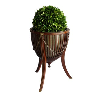 Antique English Mahogany Wine Cooler or Jardiniere For Sale
