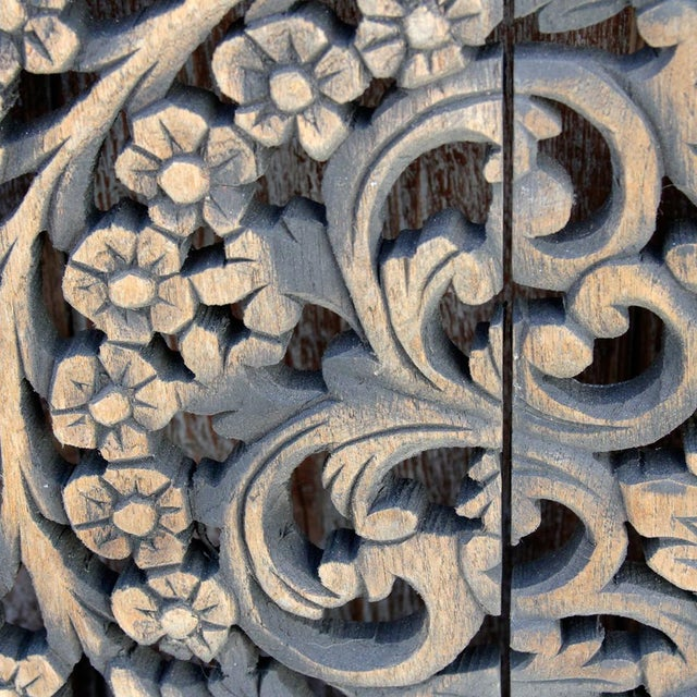 Dark Aged Lotus Panel For Sale - Image 4 of 5
