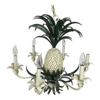 1970s Italian Boho Chic Pineapple Chandelier For Sale