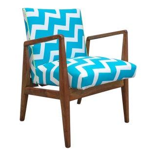 Jens Risom Danish Modern Reupholstered Chair