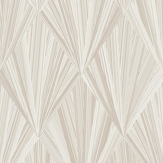 Sample - Schumacher Marquetry Wallpaper in Stone For Sale