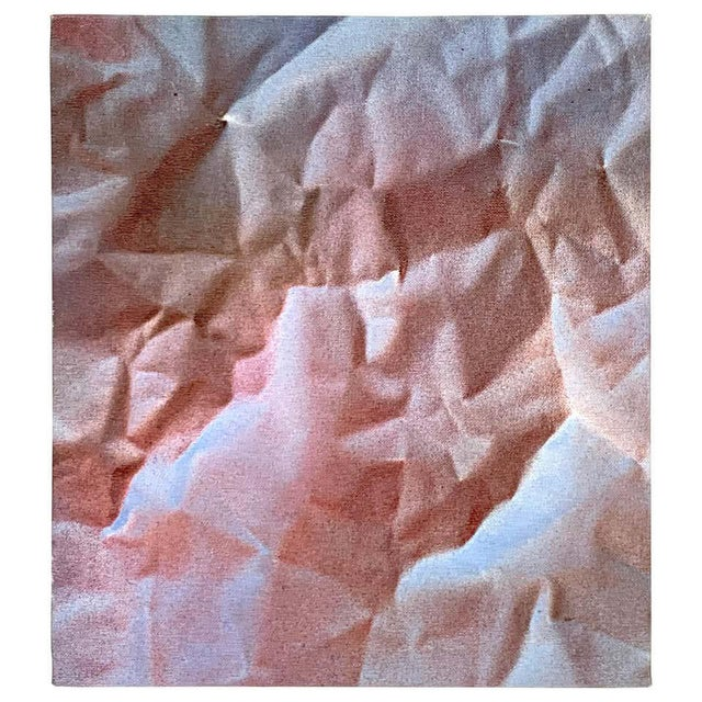 Modern Trompe-l'Oeil Crumbled Paper Oil Painting, Herb Phillips, 1995 For Sale In West Palm - Image 6 of 6