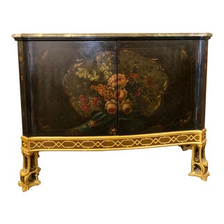 English Edwardian Painted Cabinet For Sale