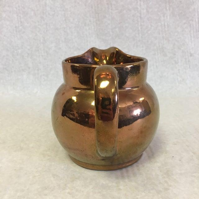 Traditional Antique Copper Lustreware Jug For Sale - Image 3 of 7