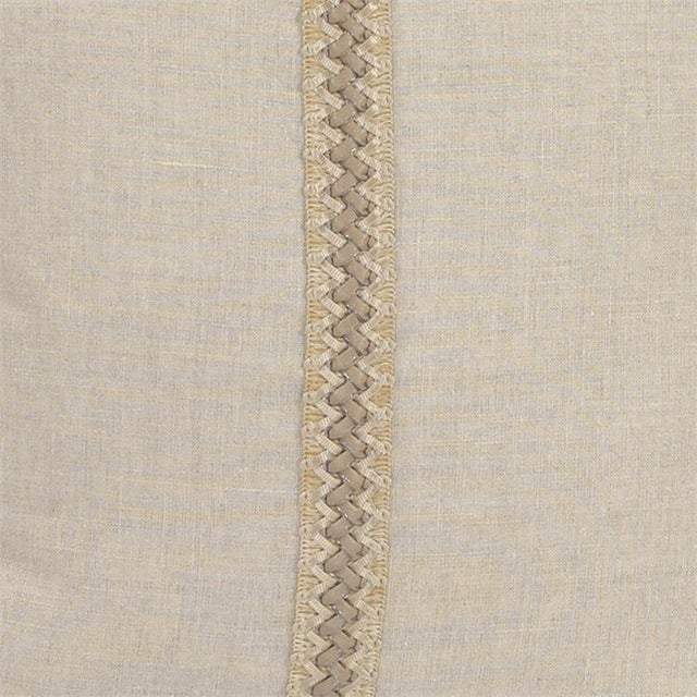 "Kenneth Ludwig Chicago Kenneth Ludwig Chicago Prairie Linen 20"" Pillow With Deco Trim For Sale - Image 4 of 6"
