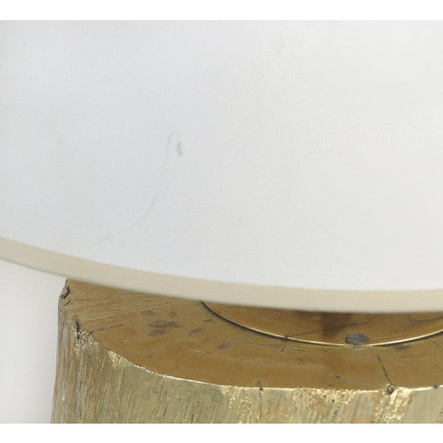 White Silver Leaf and Giltwood Table Lamp For Sale - Image 8 of 9