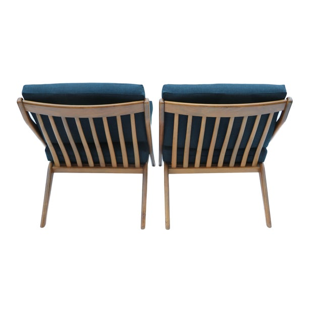 Pair Folke Ohlsson Dux Scissor Lounge Chair - Image 4 of 10