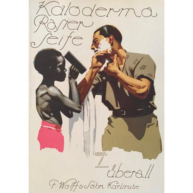1927 German Art Deco Fashion Poster, Kaloderma Rasier Seife - Image 5 of 5