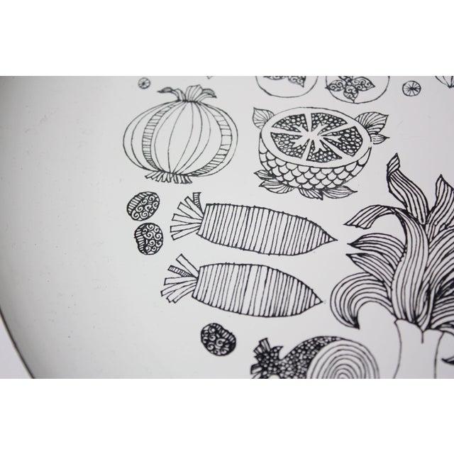 Georges Briard Georges Briard Enamel Fruit / Vegetable Plate For Sale - Image 4 of 9