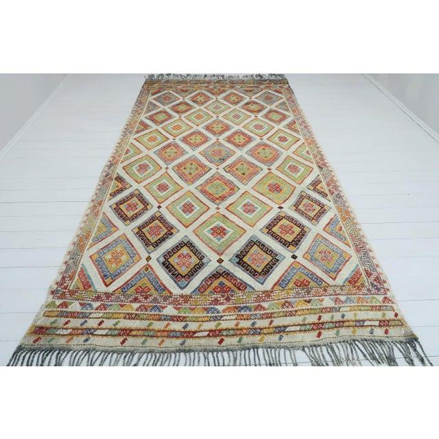 Vintage Turkish Kilim Rug For Sale - Image 13 of 13
