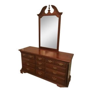 Classic Wooden Dresser & Mirror