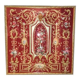 Chelsea House Framed Painted Silk Art For Sale
