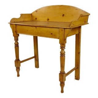 19th Century Country Farm Pine Wash Stand For Sale
