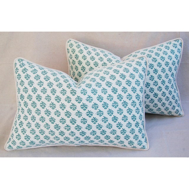 White Custom Tailored Designer Italian Fortuny Persiano Pillows - A Pair For Sale - Image 8 of 11