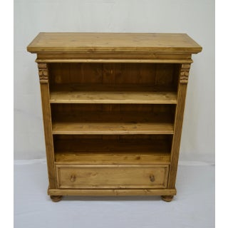 Pine Bookcase With Drawer Preview