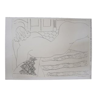 "Henri Matisse Lithograph ""Nude on a Little African Rug"" For Sale"
