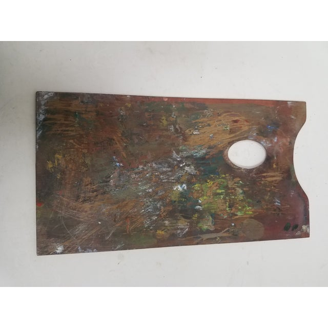English Antique English Artist Palette For Sale - Image 3 of 11