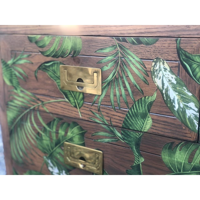 Henredon Campaign Style Scene One Bachelor's Chest For Sale In New York - Image 6 of 11