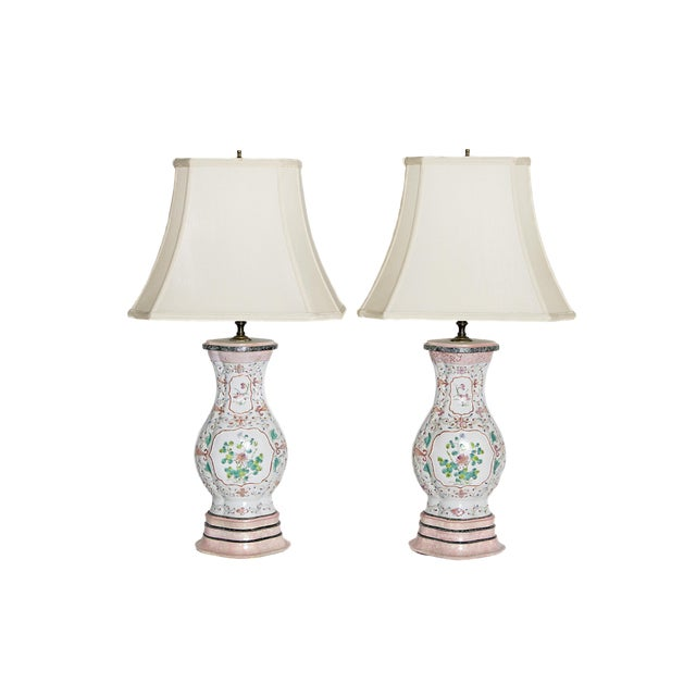 Pair of Late 18th Century Chinese Porcelain Vases as Lamps For Sale
