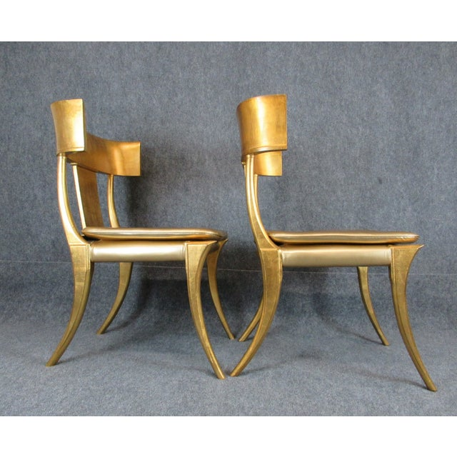Vintage Mid-Century Modern Klismos Chairs- a Pair For Sale - Image 4 of 13