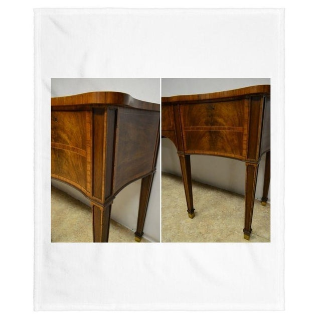 Baker Furniture Stately Homes Collection Mahogany Inlaid Sideboard For Sale In Philadelphia - Image 6 of 11