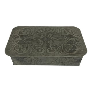 French Pewter Art Nouveau Box For Sale