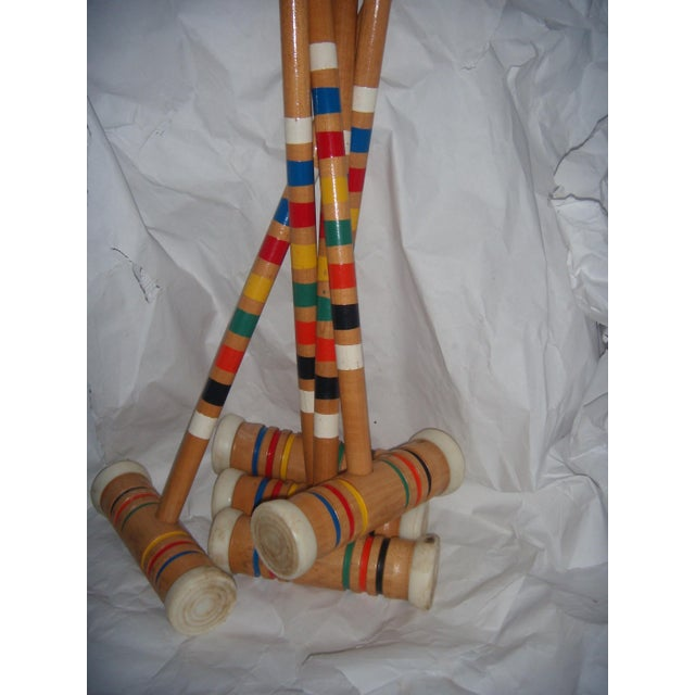 Vintage Croquet Mallets - Set of 5 - Image 3 of 7
