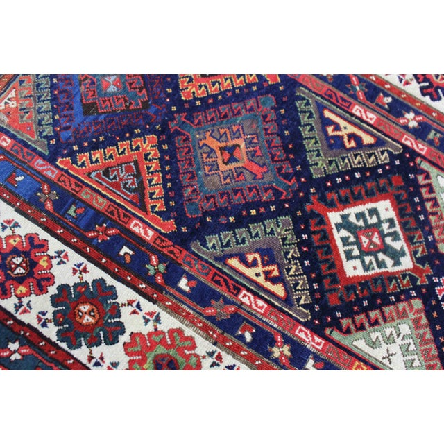Late 19th Century Antique Hand-Knotted Talish Kazak Rug - 3′4″ × 8′4″ For Sale - Image 4 of 12