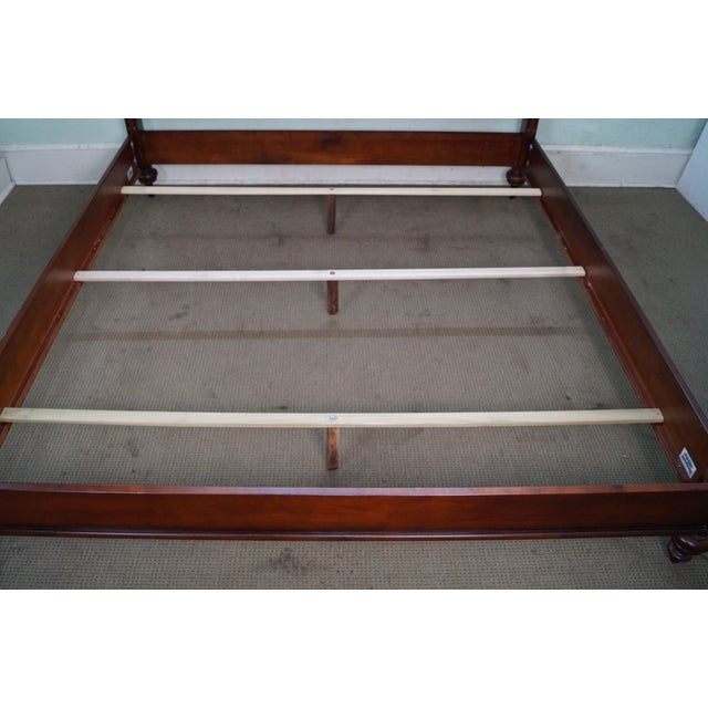 Offered is an Ethan Allen classic king size bed frame (B). It is high quality, American made, hand crafted solid maple...