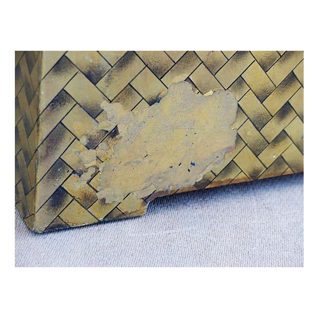 Gold Lacquered Covered Trunk For Sale - Image 11 of 11