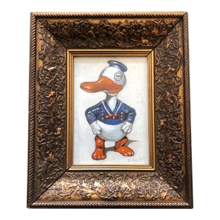 """Original Contemporary Stephen Heigh """"Vintage Duck Toy"""" Illustration Painting For Sale"""