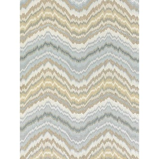 Sample, Scalamandre Bergamo Embroidery Fabric, Mineral For Sale