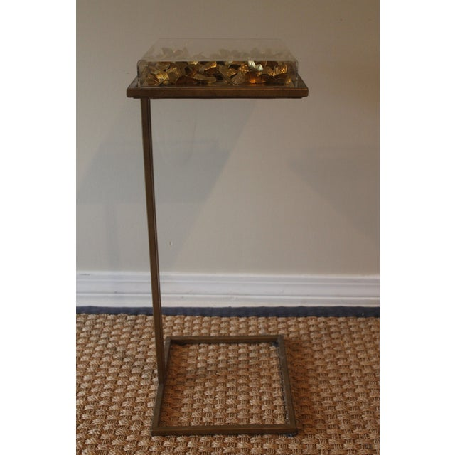 2010s Modern Tommy Mitchell Lucite Butterfly Tray Table For Sale - Image 5 of 9